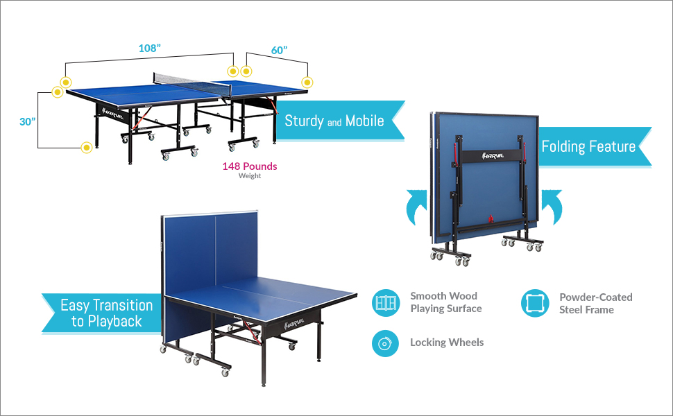 Awesome Features Of This Harvil I, Indoor Table Tennis Table