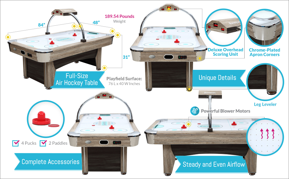 Awesome Features Of This Harvil Beachcomber 84 Inch Air Hockey Table