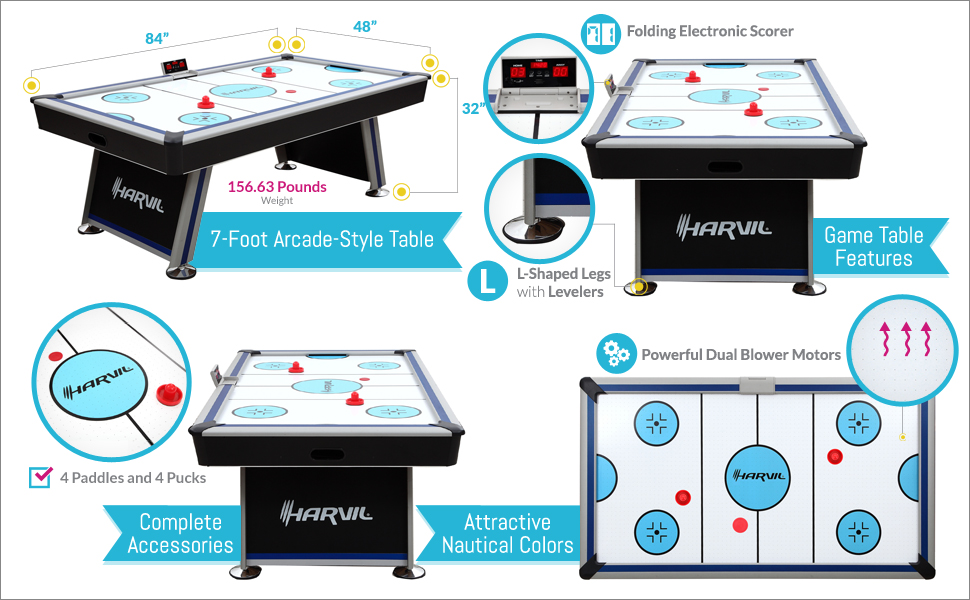 Awesome Features Of This Harvil Air Hockey 7 Foot Table