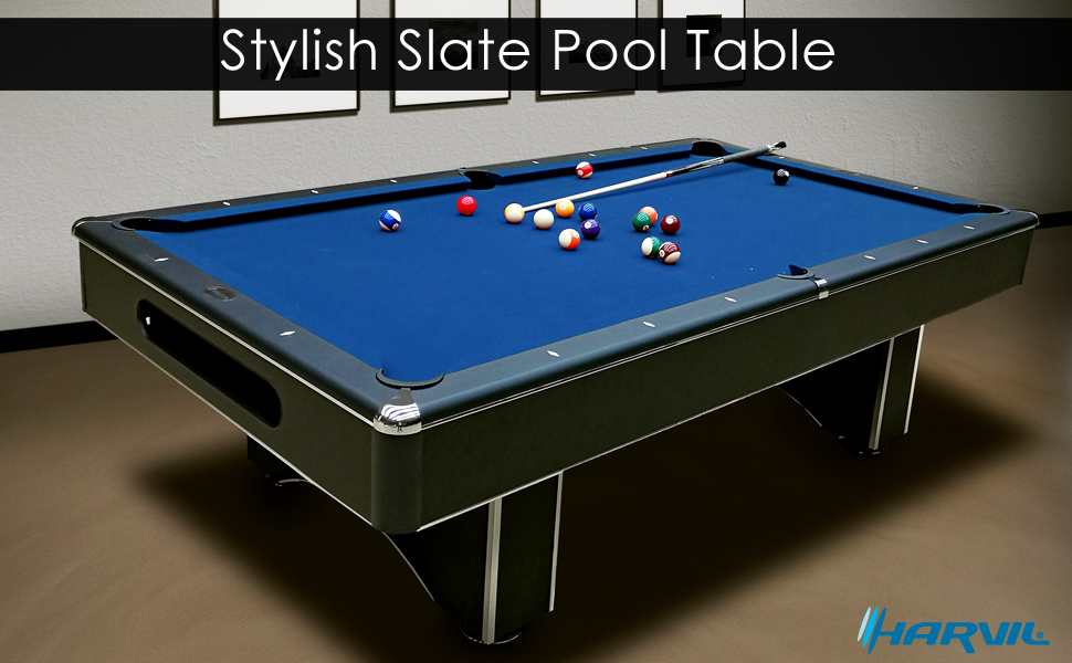 Amazoncom Harvil Galaxy Slate Pool Table Foot With Blue Felt - Chrome pool table