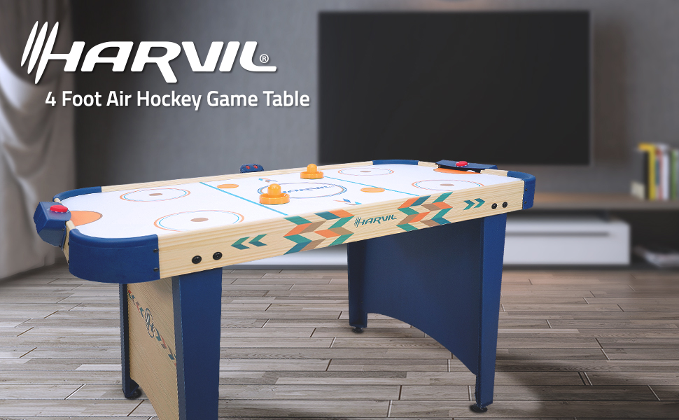 Harvil 4 Foot Air Hockety Game Table for Kids and Adults Indoor Game Machine