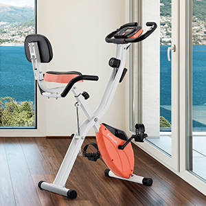Exercise Bike in white and peach for women or ladies who prefect a strong bike for daily use