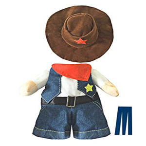 Mikayoo Pet Dog Cat Halloween Costumes,The Cowboy for Party Christmas Special Events Costume,West Cowboy Uniform with Hat,Funny Pet Cowboy Outfit Clothing for Dog cat 41