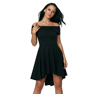946b5e79e Sidefeel Women Off The Shoulder Short Sleeve High Low Hem Club Cocktail  Skater Dress