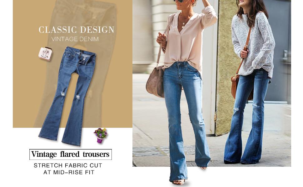 Amazon.com: Sidefeel - Jeans para mujer, corte alto ...