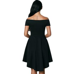 7045c12e74 Sidefeel Women Off The Shoulder Short Sleeve High Low Hem Club ...