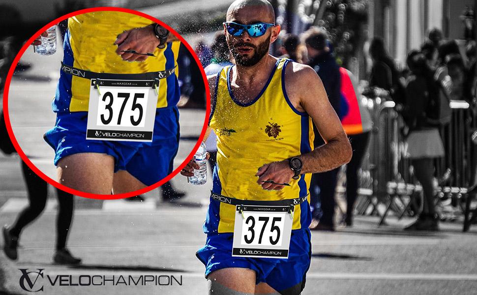 Sport Race Number Waist Belt Bib Holder Running Belts Triathlon Marathon Cycling