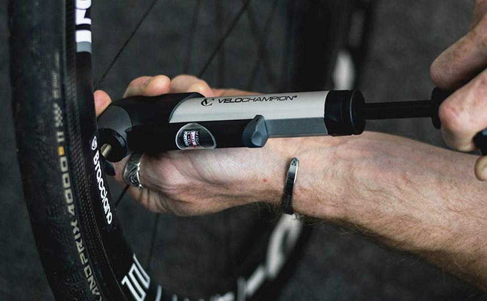 XLC Mini Cycle Bike Pump Compact Aluminium 168mm Presta Schrader Fits Saddlebag