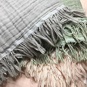 kyrahome musln throw blanket