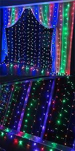 Amazon.com: Neretva - Cortina de luces para ventana, 600 ...