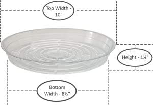 youniversal products clear plant saucer drip trays assorted sizes for large to. Black Bedroom Furniture Sets. Home Design Ideas