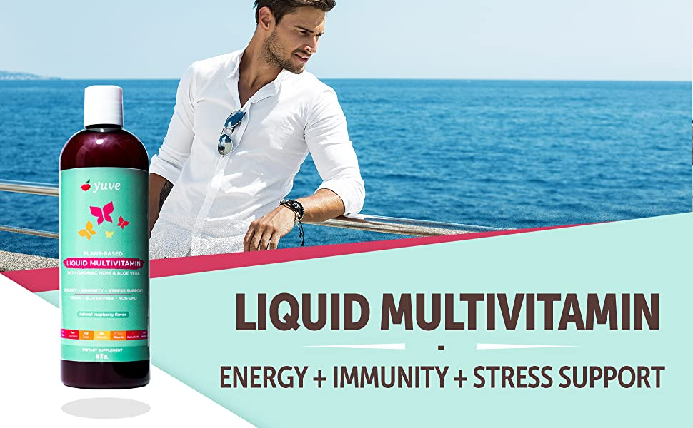 liquid multivitamin, vegan multivitamin, plant based multi vitamin, vitamin a b e d b12