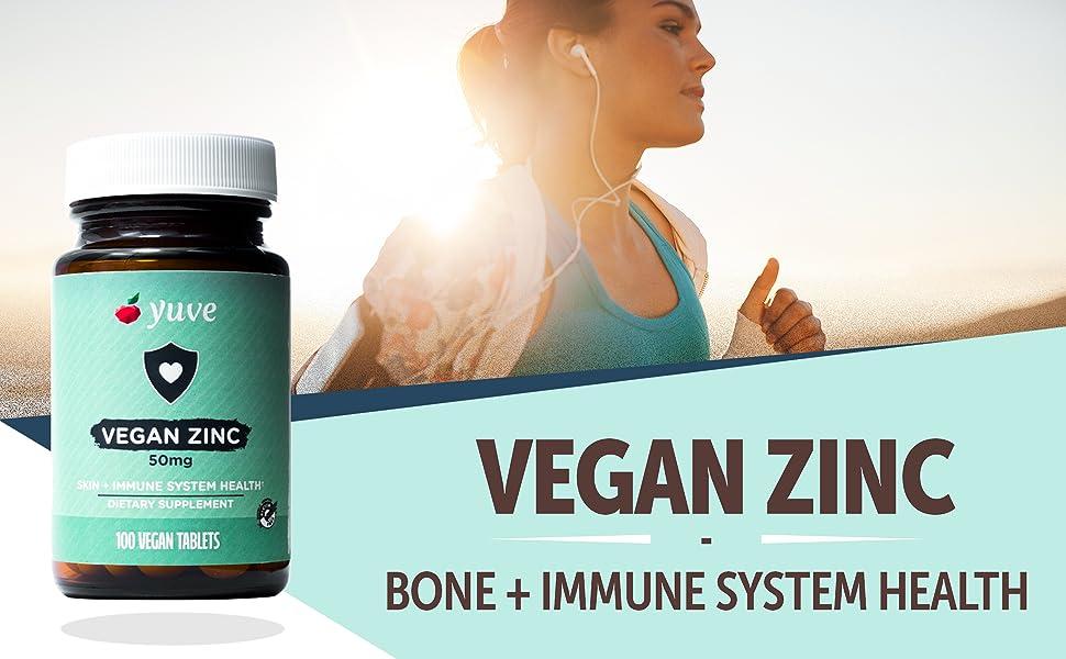 Amazon Com Yuve Vegan Natural Zinc Supplement Boosts Your Immune