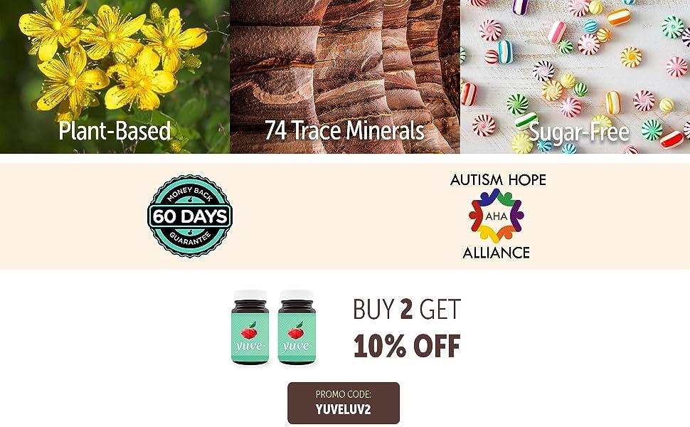 trace minerals, plant based, sugar free, non gmo, gluten free