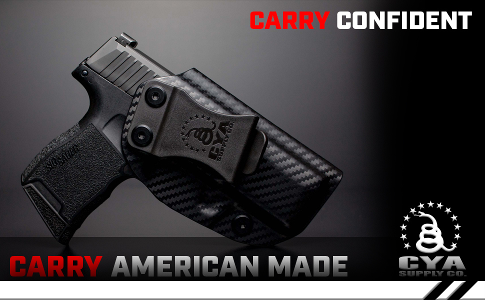 CYA Supply Co Sig P365 American Made IWB Holster Concealed Carry