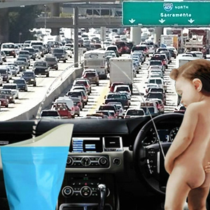 For traffic jam pee relief