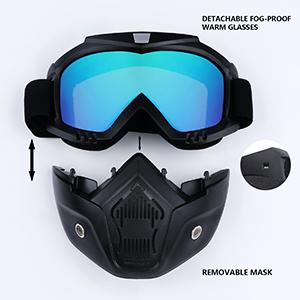 Detachable Goggles Mask