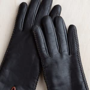 6b934c2f5 Women's Hollis Shearling-Lined Lambskin Leather Gloves at Amazon ...