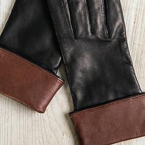 ca0da8e258376 Women's Sumac Silk-Lined Lambskin Leather Gloves at Amazon Women's ...