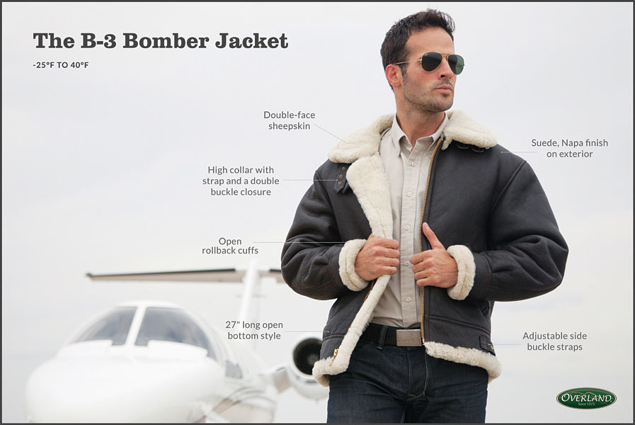 48e878d32f Our Classic Sheepskin B-3 Bomber Jacket is a timeless heavyweight