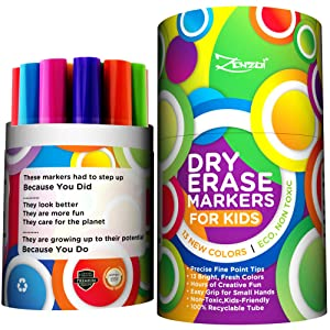 Amazon.com: Marcadores de pizarra de borrado en seco - Set ...