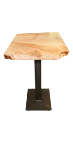 woodworking, live edge, table, wooden table, pub table, bar table, maple, real maple wood table