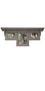 picture shelf, poplar wood, wooden shelf, picture frame, real wood frame, grey picture frame
