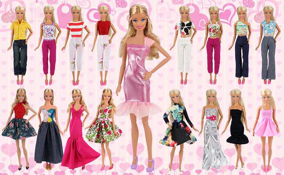 Amazon.com: Barwa Lot 15 items = 5 Sets Fashion Casual Wear Clothes ...
