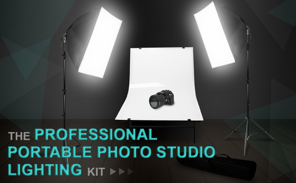 Photography Softbox Lighting Kit is a phenomenal addition to any Photo/Video Studio providing professional maximized light spread at a low convenient cost. : portable studio lighting kit - azcodes.com