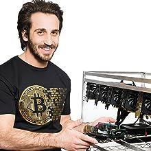 Bitcoin t-shirt, bitcoin apparel, bitcoin logo, crypto, crypto currency, mining, miner, mining