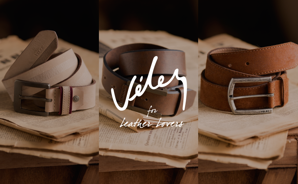 Velez Genuine Leather Belt for Men Correa Cinturones en Cuero Colombiano Hombre