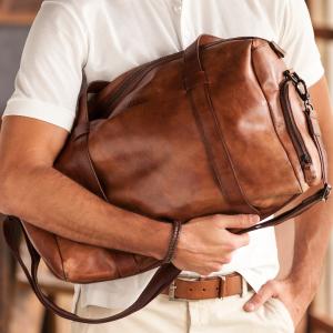 leather fannypacks for men
