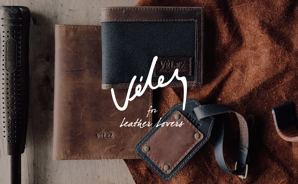 Velez Women Genuine Full Grain Leather Bifold Small Wallets Billeteras de Cuero
