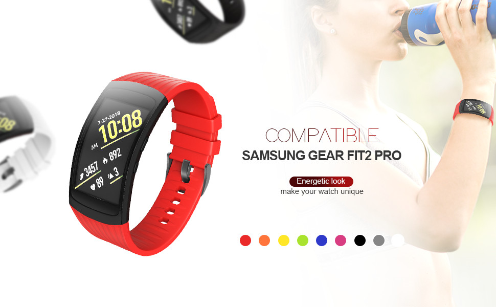 Amazon.com: NotoCity Compatible Samsung Gear Fit2 Pro Band ...