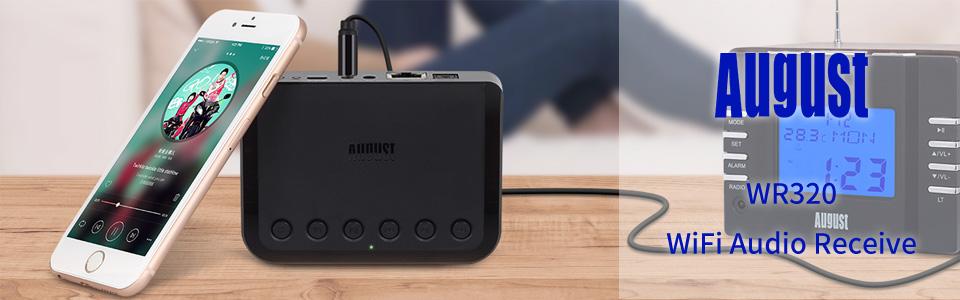 Amazon.com: Wireless Wifi Receptor de audio – Agosto wr320 ...