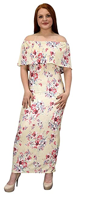 f5f57eaf23 Peach Couture Womens Summer Gypsy Bohemian Vintage Floral Long Maxi Dress