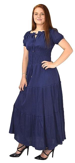 2e91629baa1e Peach Couture Womens Renaissance Vintage Smocked Gypsy Tank Dress at ...