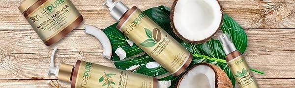 منتجات الشعر الطبيعي للرجال والنساء قناع شامبو مكيف الشعر ومصل البيوتين