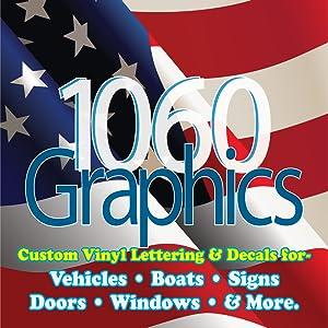 1060 graphics vinyl lettering decal car truck door window boat text sign sticker auto letter custom