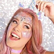 Mermaid Chunky Glitter Makeup
