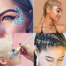 Maquillage de paillettes Chunky sirène