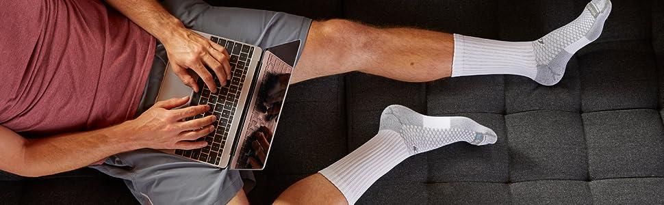 Drymax Socks- Crew on couch