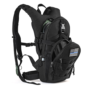 This small tactical hydration backpack pack is the perfect choice for hiking in the wildness