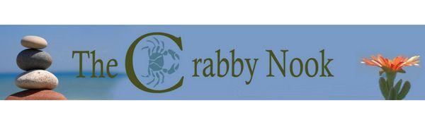 thecrabbynook header logo, the crabby nook header logo