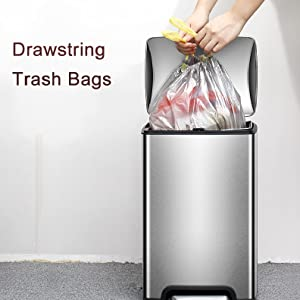 drawstring trash bag