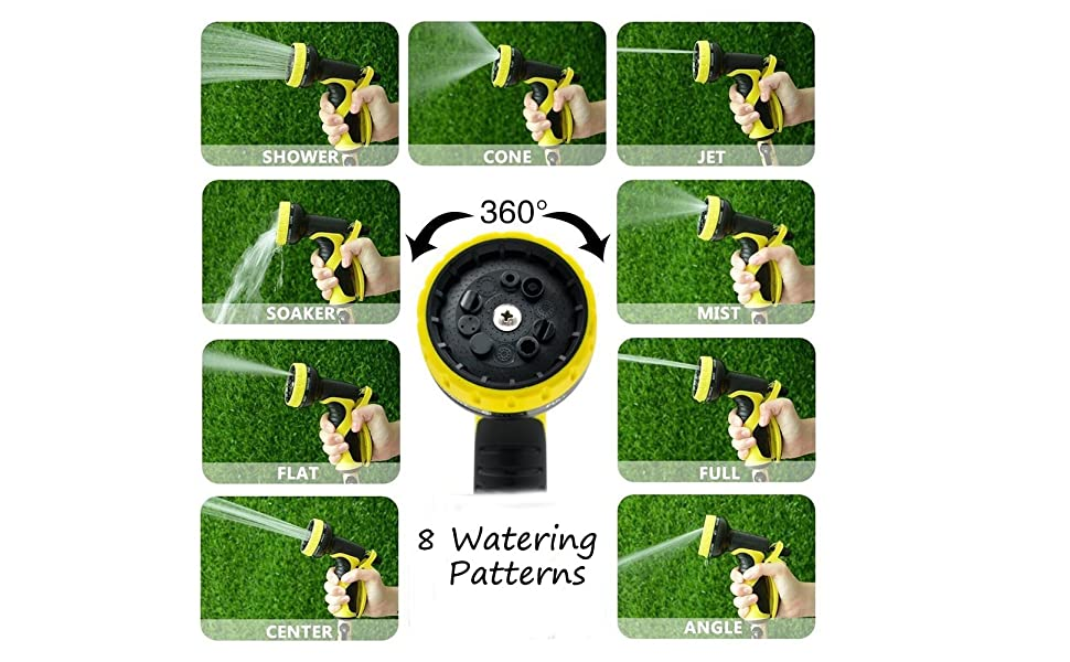 8 watering patterns