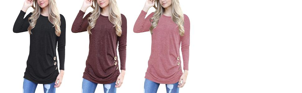 Tunic Tops Loose T Shirt Blouses