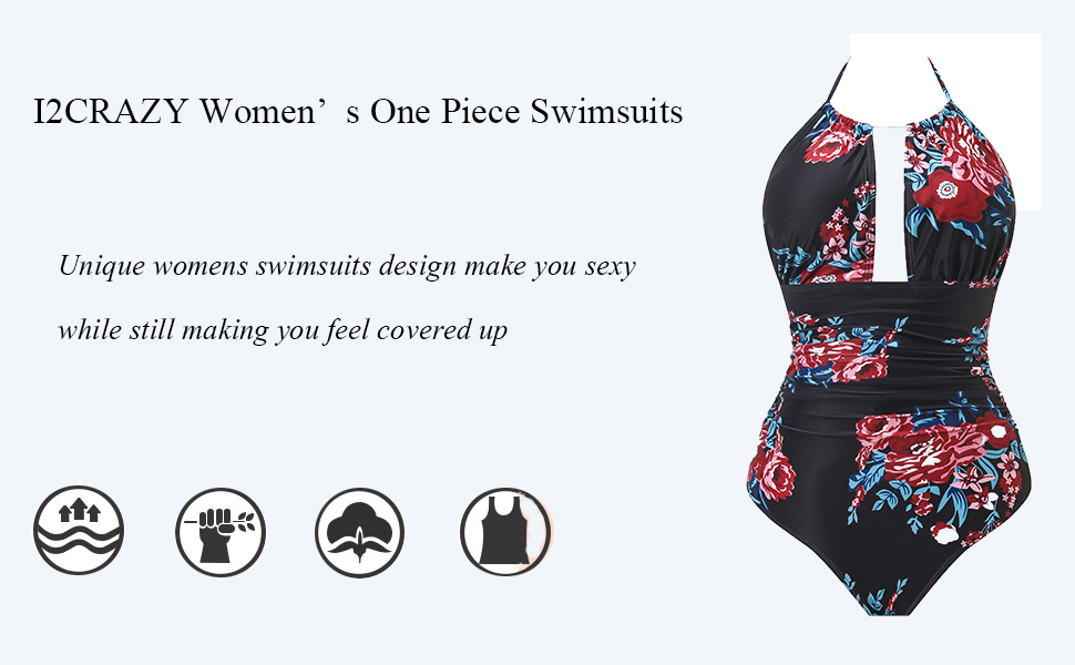 Women's One Piece Swimsuits Tummy Control Swimwear