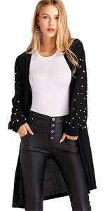 Floerns long sleeve casual sweater cardigan