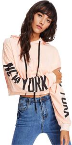 Floerns crop hoodie sweatshirt